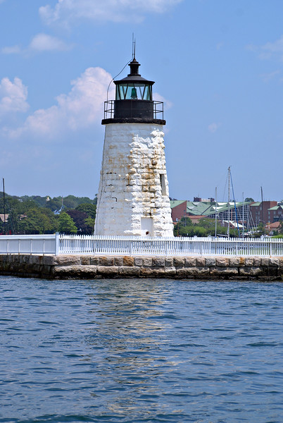 A Congressional appropriation of $13,000 was made in May 1842 for the new lighthouse tower.  A 29 foot octagonal tower of granite was constructed at the end of the breakwater.  On December 18, 1842 the eight lamps were moved from the old 1823 tower into the new tower and lit.