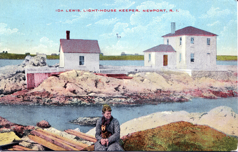 Ida Lewis Light postcard005