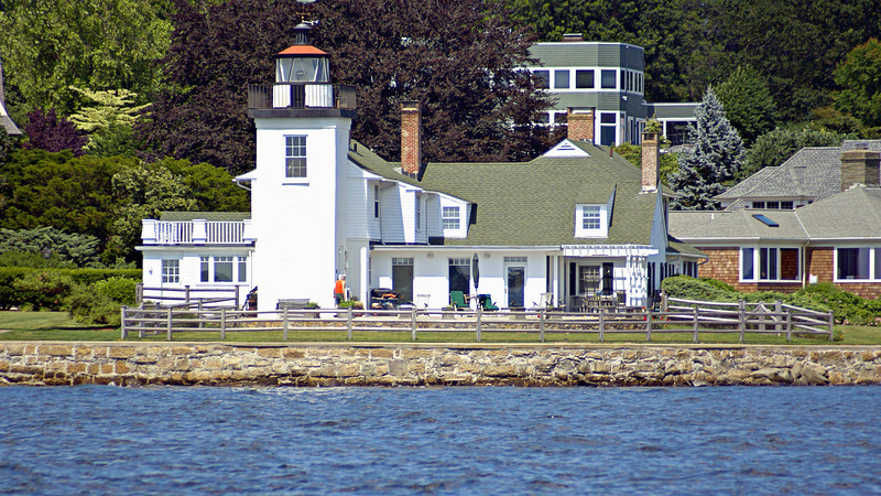 A five room stone Keepers dwelling was built 25 feet up the beach from the tower.  The 1828 dwelling, with many alterations over the years, is now the oldest lighthouse keepers dwelling standing in Rhode Island.  Daniel Wightman was appointed the first Keeper of the Nayatt Point Light at an annual salary of $350.