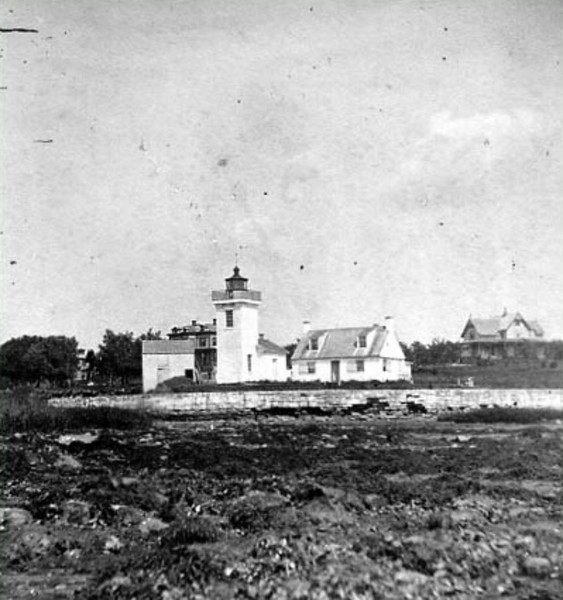 **Late 1800's view of Nayatt Point Light**