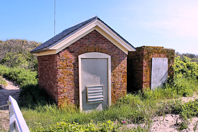 **Oil House and Storage shed**  Local residents formed the North Light Commission with the aim of restoring the lighthouse.  After raising $80,000 they replaced the roof and renovated the buildings exterior.