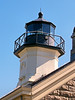 The lantern, 61 feet above sea level, was fitted with a fourth order Fresnel lens which was visible for 13 miles. Originally the light was provided by a whale oil lamp. This was changed in 1907 to an incandescent oil vapor (IOV) lamp.