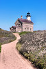 The fourth and last lighthouse was completed in 1867 and was made from granite quarried in Connecticut. The metal tower rises from the front of the keepers dwelling. The 'schoolhouse' design used for North Light is similar to many other lights built in the area during this time period.