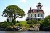 In 1980 the lighthouse property was put up for a closed bid auction where 30 bids were received.  Mobil Oil Company (now ExxonMobil), who maintained a refinery nearby, was the winning bidder with a bid of $40,100.