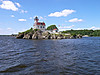 In 1908 Keeper Adolph Aronson and his family moved into the Pomham Rocks Light to begin a 29 year stretch of service.  When his wife had appendicitis and was too sick to be moved to the mainland a doctor was ferried out to the light and he performed emergency surgery in the lighthouse.
