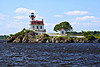 The Light House Board decided to erect a structure similar to one constructed at Colchester Reef, Vermont.  The design was the result of an architectural contest which was held for the best lighthouse design which was won by Albert Dow of Burlington, Vermont.  The same design would also be used at Sabins Point and Rose Island, Rhode Island.