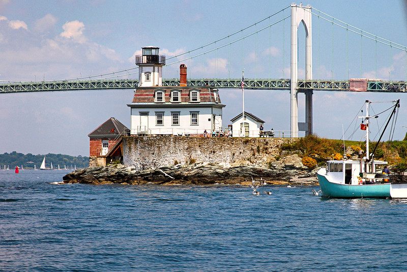 In 1958 the Rose Island Light narrowly avoided disaster when two oil tankers collided and burst into flames.  One of the burning ships floated close to lighthouse and the walls became so hot the keepers fled the building.  Luckily the tide changed and floated the ship away from the light.