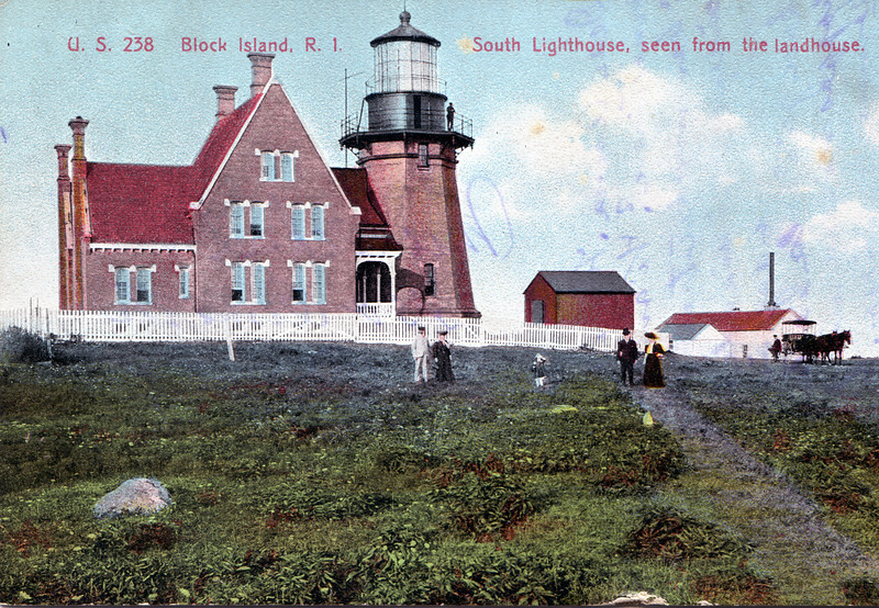 Old postcard view of the Block Island Southeast Light Station