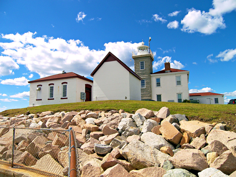 In 1986 the Watch Hill Light Station was automated and its Fresnel lens was removed and replaced with a modern optic.  When the Coast Guard announced its plan to destaff the light, the local townspeople formed the Watch Hill Lightkeepers Association to care for it.  They raised $250,000 in a six month period and signed a 30 year lease.  They have made several repairs over the years and continue to maintain the station giving tours in the summer months.  You can find information on the light and visitation at: www.watchhilllighthousekeepers.org