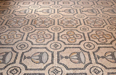Floor mosaic inside the Palace of the Grand Master Knights, Rhodes.