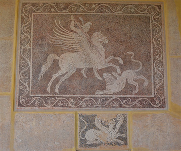 Mosaic -Archaeological Museum Of Rhodes, Greece.