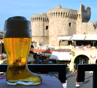 Glass Boot of Beer, Rhodes