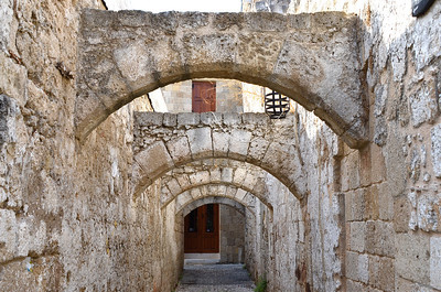 Narrow Alley Way, Rhodes, Greece