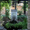 Fountain in the museum gardens.