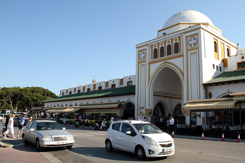 Ornate entrance to a market.