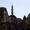 Mosque minaret, at dusk.