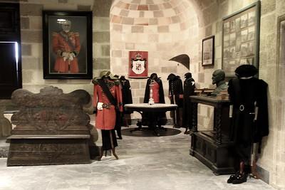 Display of old uniforms.