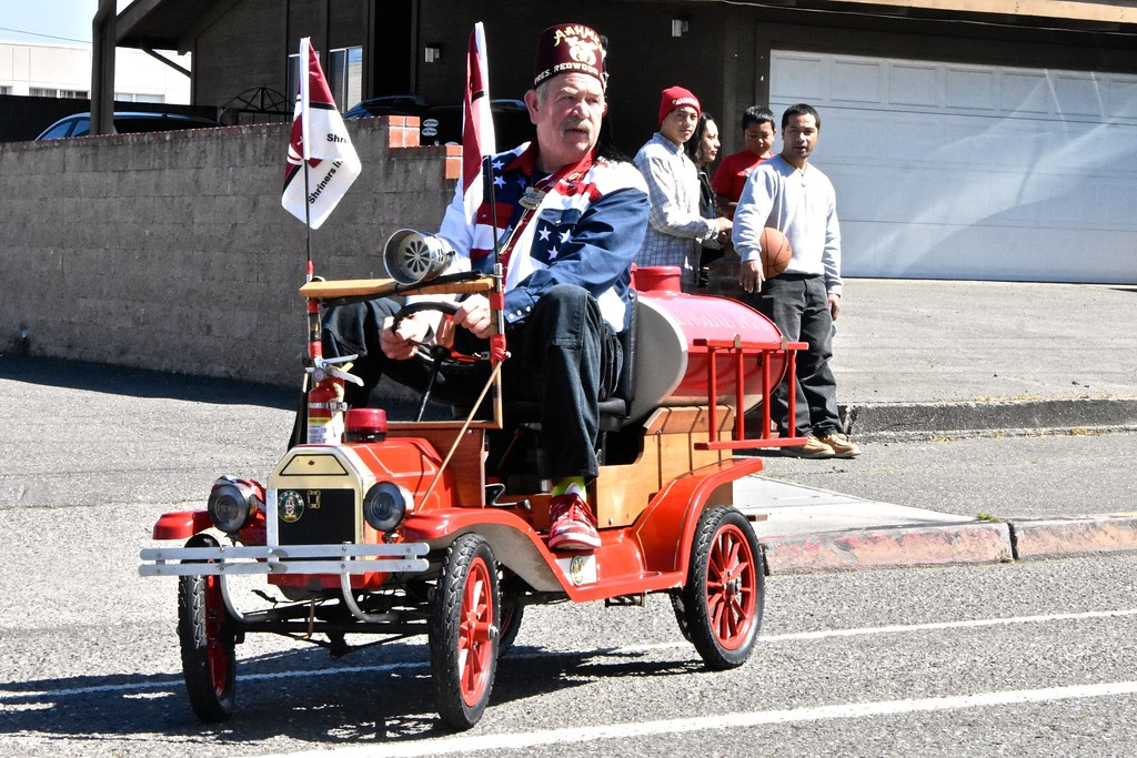 . Redwood Shrine Club President Kenneth Christiansen takes a cruise.  (Jose Quezada - For the Times-Standard)