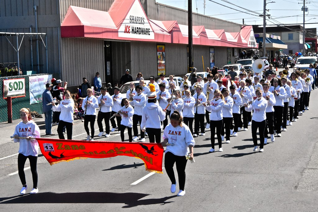 . The Zane Middle School marching band take a righteous rhythm to heart. (Jose Quezada - For the Times-Standard)
