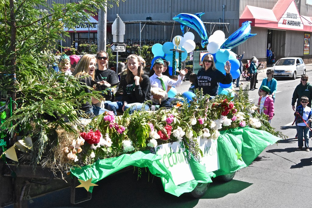. Freshwater 4-H ride in Rhododendron glory. (Jose Quezada - For the Times-Standard)
