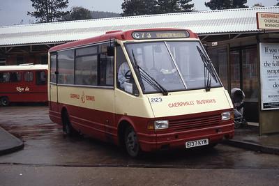 Rhondda 2123 Caerphilly Bus Stn Sep 94
