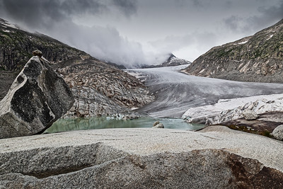 The Rhone Glacier.