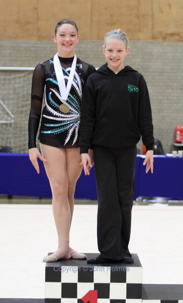 Gabriella Lyden and Sian Holmes, both Champions in their respective age groups.