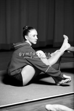Portrait of Rhythmic Gymnast Liubou Charkashyna of Belarus taken during the 2006 LA Lights Rhythmic Gymnastics meet in Los Angeles, CA, January 21, 2006.  (photo by James Glader)