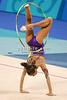 Rhythmic gymnasts compete during the 2004 Olympiad