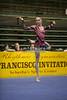 Rhythmic gymnast Galina Shyrkina of Ukraine competes during the rope discipline. Taken at the 2006 San Francisco International Rhythmic Gymnastics Invitational, San Francisco February 11, 2006.  (photo by James Glader)