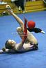Rhythmic gymnast Brenann Stacker of USA warms up before the competition. Taken during 2006 San Francisco International Rhythmic Gymnastics Invitational, San Francisco February 11, 2006  (photo by James Glader)