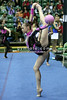 Rhythmic gymnast Galina Shyrkina of Ukraine warms up before the competition. Taken during 2006 San Francisco International Rhythmic Gymnastics Invitational, San Francisco February 11, 2006  (photo by James Glader)