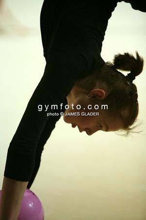 Portrait of rhythmic gymnast Galina Shyrkina of Ukraine in training. Taken one day before the 2006 Thiais Rhythmic Gymnastics Grand Prix, Thiais, France. March 24, 2006  (photo by James Glader)