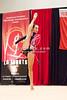 Rhythmic gymnast Ekaterina Galkina of Belarus performs clubs during 2013 LA Lights Rhythmic Gymnastics meet in Culver City, CA.  January 26th, 2013 (photo by James Glader)