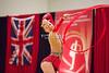 Rhythmic gymnast Anna Rizatdinova of Ukraine performs ribbon during 2013 LA Lights Rhythmic Gymnastics meet in Culver City, CA.  January 26th, 2013 (photo by James Glader)