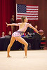 Rhythmic gymnast Maria Kadobina of Belarus performs with ball routine during the 2013 LA Lights in Culver City, CA.  January 26th, 2013 (photo by James Glader)