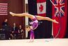 Rhythmic gymnast Maria Kadobina of Belarus performs with ribbon during 2013 LA Lights Rhythmic Gymnastics meet in Culver City, CA.  January 26th, 2013 (photo by James Glader)