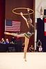 Rhythmic gymnast Viktoria Mazur of Ukraine performs with hoop during 2013 LA Lights Rhythmic Gymnastics meet in Culver City, CA.  January 26th, 2013 (photo by James Glader)