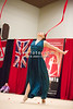 Rhythmic gymnast Alina Maksymenko of Ukraine performs gala during 2013 LA Lights Rhythmic Gymnastics meet in Culver City, CA.  January 26th, 2013 (photo by James Glader)