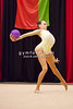 Rhythmic gymnast Arina Charopa of Belarus performs with ball during 2013 LA Lights Rhythmic Gymnastics meet in Culver City, CA.  January 26th, 2013 (photo by James Glader)