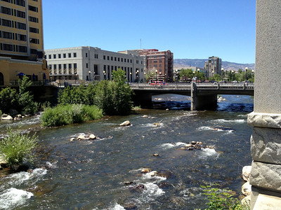 2 mile Walk / Bicycle to Reno Downtown along the Truckee River at RRR 2013