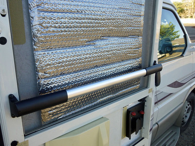 Silver Roll Foil Insulation. Plus Handle Access bar for entry step.