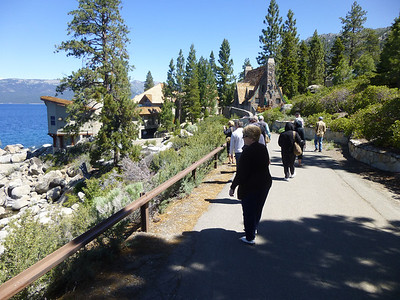 Entering Thunderbird Lodge via the car ramp walkway.