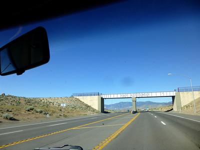 Railway bridge over Highway 50.