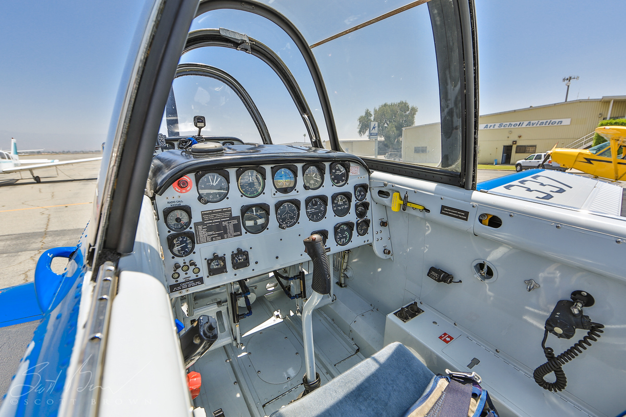 T-34 Trainer Back Seat N337AR