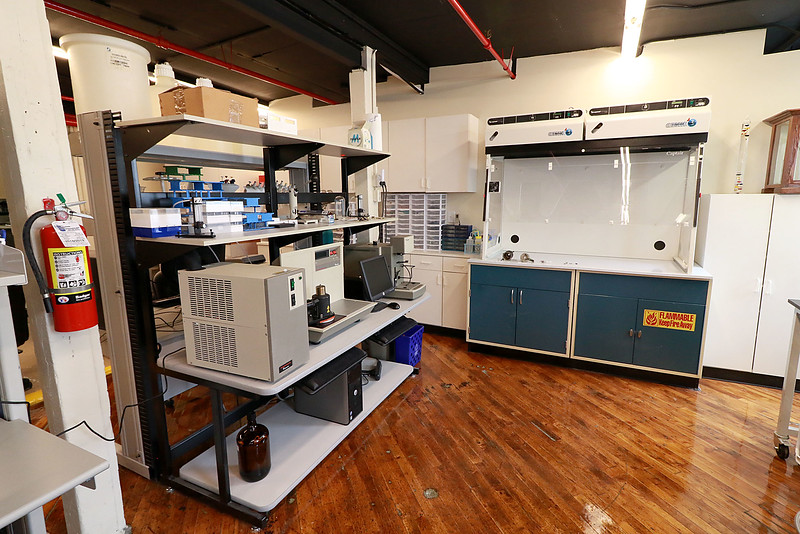 A ribbon cutting for the new Leominster business Landrau Scientific Innovations was held on Thursday at noon, June 28, 2018. A view of just some of the machines in their new space in Leominster. SENTINEL & ENTERPRISE/JOHN LOVE