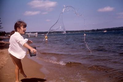 1975_08 Bonnie at Lake Michigan