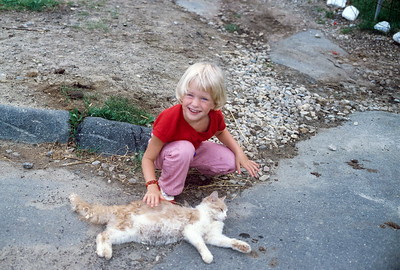 1982 (?) Jennie Broad & cat