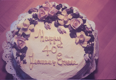 1982-05 Jeanne & Ernie Anniversary Cake