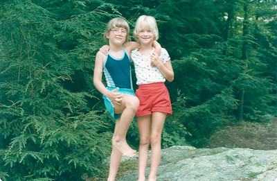 1983-08 Jennie & Nicole @ Green Pond